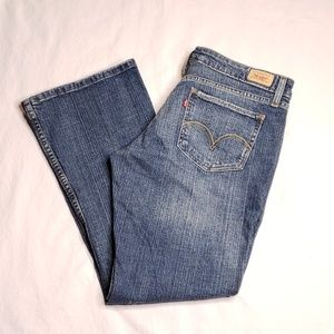 Levis 518 Juniors 13 Short Bootcut Blue Jeans